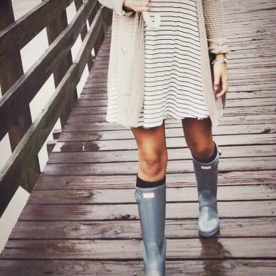 雨の日でもオシャレを導く!レインブーツの着こなしコーデ